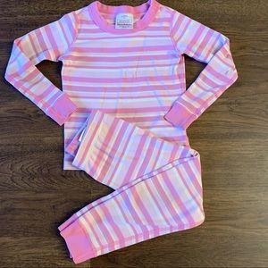 Hanna Andersson Pink Striped Pajamas